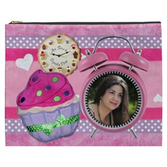 Any Time Is Cupcake Time Pink  Cosmetic Bag By Ivelyn   Cosmetic Bag (xxxl)   5j5fkha8jf9y   Www Artscow Com Front