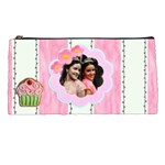 pink stripes pencil case