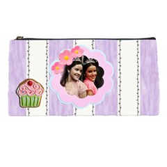 Purple Stripes Pencil Case By Ivelyn   Pencil Case   Di40952trm2p   Www Artscow Com Front
