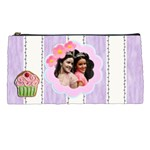 purple stripes pencil case