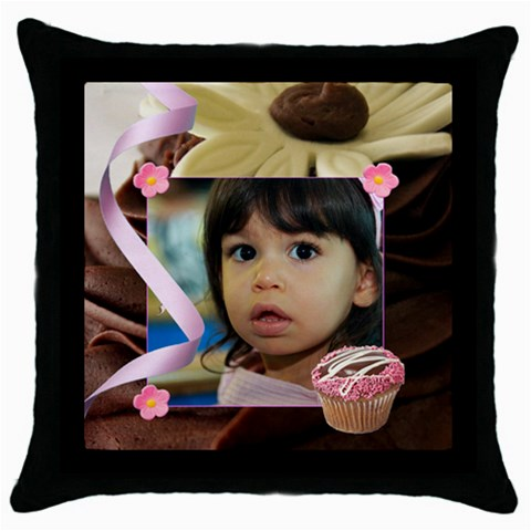 Chocolate Frosting Pillow By Ivelyn   Throw Pillow Case (black)   0gnzk05uul3j   Www Artscow Com Front