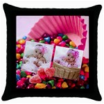 candy hearts pillow - Throw Pillow Case (Black)