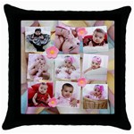 marshmallow pillow - Throw Pillow Case (Black)