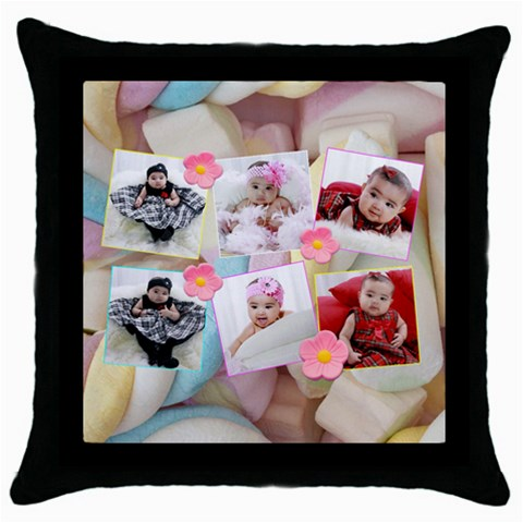 Marshmallow Ii Pillow By Ivelyn   Throw Pillow Case (black)   9fz844c12t6o   Www Artscow Com Front