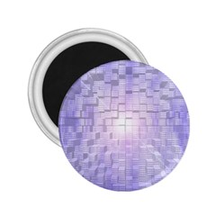Purple Cubic Typography 2 25  Button Magnet by TheZiNES