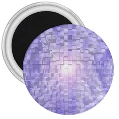 Purple Cubic Typography 3  Button Magnet by TheZiNES