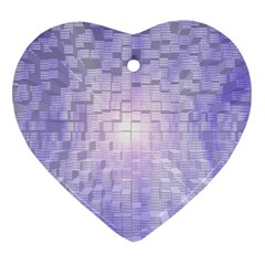 Purple Cubic Typography Heart Ornament by TheZiNES