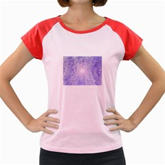 Purple Cubic Typography Women s Cap Sleeve T Shirt (colored) by TheZiNES