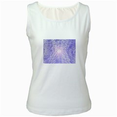 Purple Cubic Typography Womens  Tank Top (white) by TheZiNES