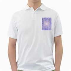 Purple Cubic Typography Mens  Polo Shirt (white) by TheZiNES
