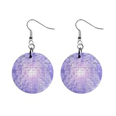 Purple Cubic Typography Mini Button Earrings