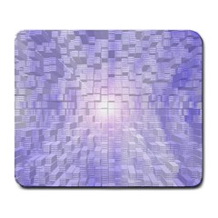 Purple Cubic Typography Large Mouse Pad (rectangle) by TheZiNES