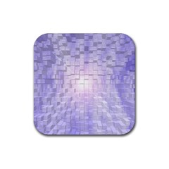 Purple Cubic Typography Drink Coaster (square) by TheZiNES