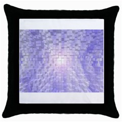 Purple Cubic Typography Black Throw Pillow Case by TheZiNES
