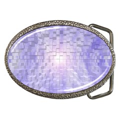 Purple Cubic Typography Belt Buckle (oval) by TheZiNES