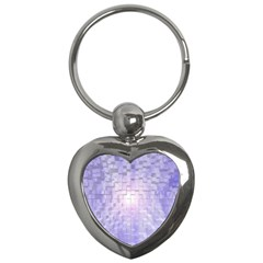 Purple Cubic Typography Key Chain (heart) by TheZiNES
