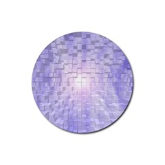 Purple Cubic Typography Drink Coaster (round) by TheZiNES