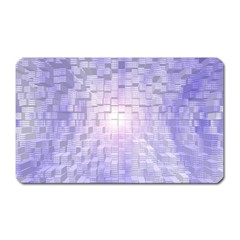 Purple Cubic Typography Magnet (rectangular) by TheZiNES