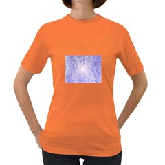 Purple Cubic Typography Womens' T Shirt (colored) by TheZiNES