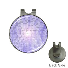 Purple Cubic Typography Hat Clip with Golf Ball Marker