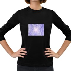 Purple Cubic Typography Womens' Long Sleeve T Shirt (dark Colored) by TheZiNES