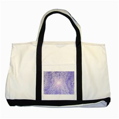 Purple Cubic Typography Two Toned Tote Bag by TheZiNES
