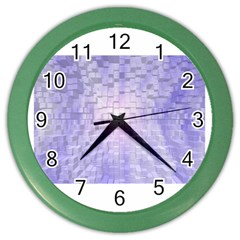 Purple Cubic Typography Wall Clock (color) by TheZiNES