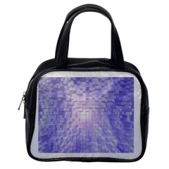 Purple Cubic Typography Classic Handbag (one Side) by TheZiNES