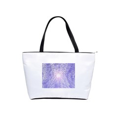 Purple Cubic Typography Large Shoulder Bag by TheZiNES