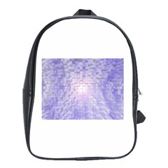 Purple Cubic Typography School Bag (large) by TheZiNES