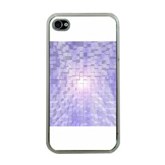 Purple Cubic Typography Apple Iphone 4 Case (clear) by TheZiNES