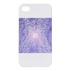 Purple Cubic Typography Apple Iphone 4/4s Premium Hardshell Case by TheZiNES