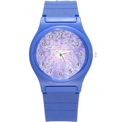 Purple Cubic Typography Plastic Sport Watch (small) by TheZiNES