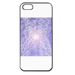 Purple Cubic Typography Apple Iphone 5 Seamless Case (black) by TheZiNES