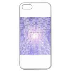 Purple Cubic Typography Apple Seamless Iphone 5 Case (clear)
