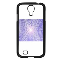 Purple Cubic Typography Samsung Galaxy S4 (black) by TheZiNES