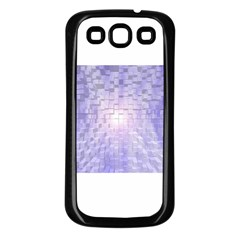Purple Cubic Typography Samsung Galaxy S3 Back Case (black) by TheZiNES