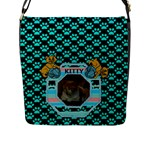 Kitty Flap Closure Messenger Bag - Flap Closure Messenger Bag (L)