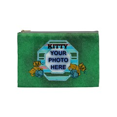 Kitty Medium Cosmetic Bag 2 By Joy Johns   Cosmetic Bag (medium)   0we1u3p12kw8   Www Artscow Com Front
