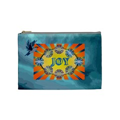 Name/innitial Medium Cosmetic Bag By Joy Johns   Cosmetic Bag (medium)   Z76q3nju40bk   Www Artscow Com Front