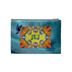 Name/innitial Medium Cosmetic Bag By Joy Johns   Cosmetic Bag (medium)   Z76q3nju40bk   Www Artscow Com Back