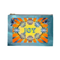 Name/initial Large Cosmetic Bag By Joy Johns   Cosmetic Bag (large)   3zen7y5rf5z5   Www Artscow Com Front