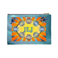 Name/initial Large Cosmetic Bag By Joy Johns   Cosmetic Bag (large)   3zen7y5rf5z5   Www Artscow Com Back