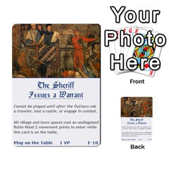 Robin Hood Cards (sheriff Deck) By Mark Johnson   Multi Purpose Cards (rectangle)   Fwupf36hvxqz   Www Artscow Com Front 10