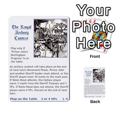 Robin Hood Cards (sheriff Deck) By Mark Johnson   Multi Purpose Cards (rectangle)   Fwupf36hvxqz   Www Artscow Com Front 21