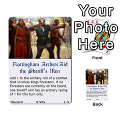 Robin Hood Cards (sheriff Deck) By Mark Johnson   Multi Purpose Cards (rectangle)   Fwupf36hvxqz   Www Artscow Com Front 26