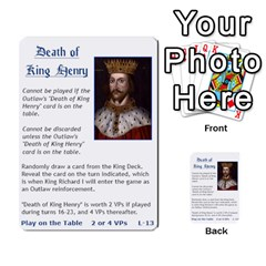 Robin Hood Cards (sheriff Deck) By Mark Johnson   Multi Purpose Cards (rectangle)   Fwupf36hvxqz   Www Artscow Com Front 30