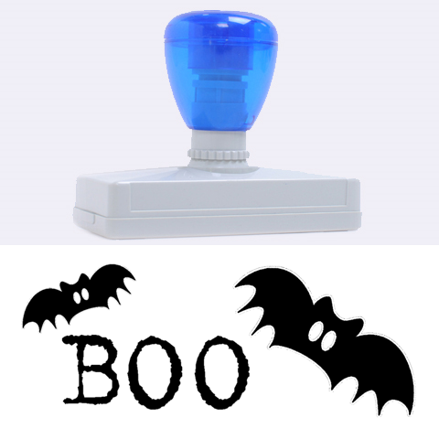 Boo Helloween Stamp Xl By Zornitza   Rubber Address Stamp (xl)   P1noq5mii335   Www Artscow Com 3.13 x1.38  Stamp