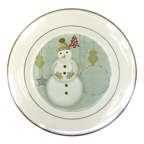 Happy Holiday Plate By Zornitza   Porcelain Plate   2hse7xmldzk0   Www Artscow Com Front