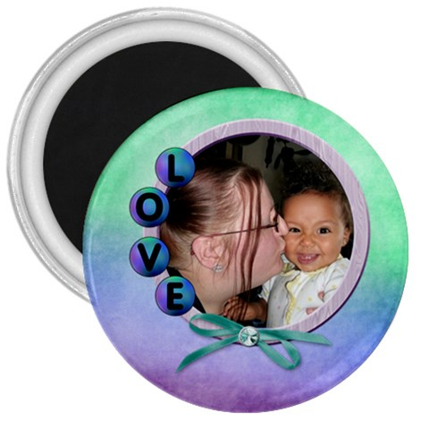 Love Magnet 3 In By Angeye   3  Magnet   Qh98b70dvq5b   Www Artscow Com Front